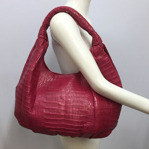 NANCY GONZALEZ CROCODILE HOBO TOTE NWOT JUMBO